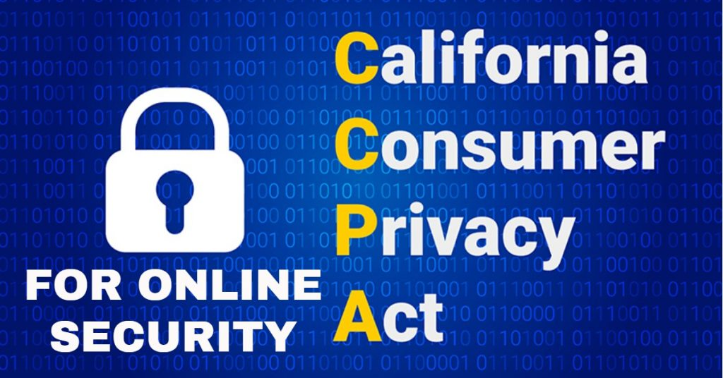 CCPA ONLINE SECURITY